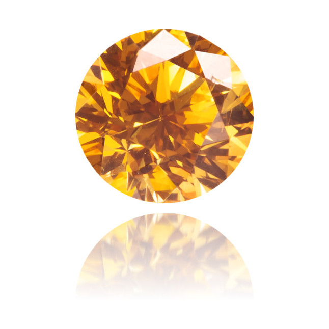 Natural Orange Diamond Round 0.31 ct Polished
