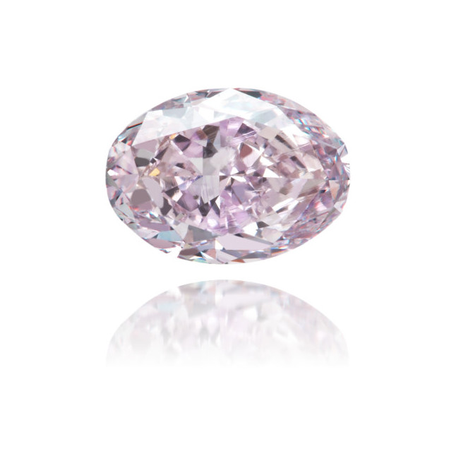 Natural Purple Diamond Oval 0.79 ct Polished