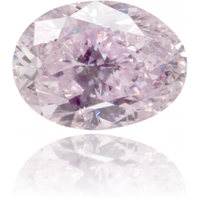 Natural Purple Diamond Oval 0.41 ct Polished
