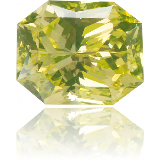 Natural Green Diamond Rectangle 0.63 ct Polished