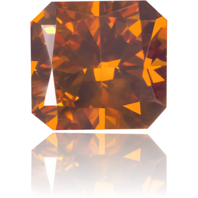 Natural Orange Diamond Square 0.49 ct Polished