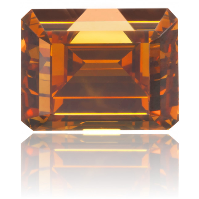 Natural Orange Diamond Rectangle 0.58 ct Polished