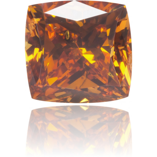 Natural Orange Diamond Square 0.56 ct Polished