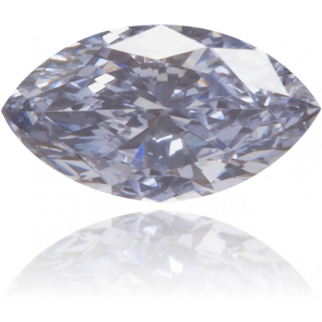 Natural Blue Diamond Marquise 0.11 ct Polished