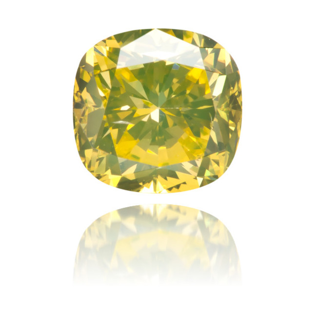 Natural Yellow Diamond Square 0.54 ct Polished