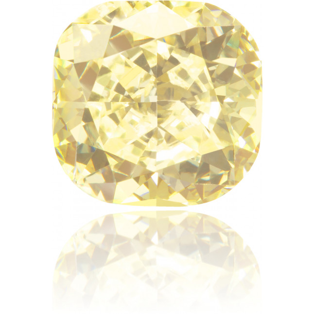 Natural Yellow Diamond Square 2.30 ct Polished