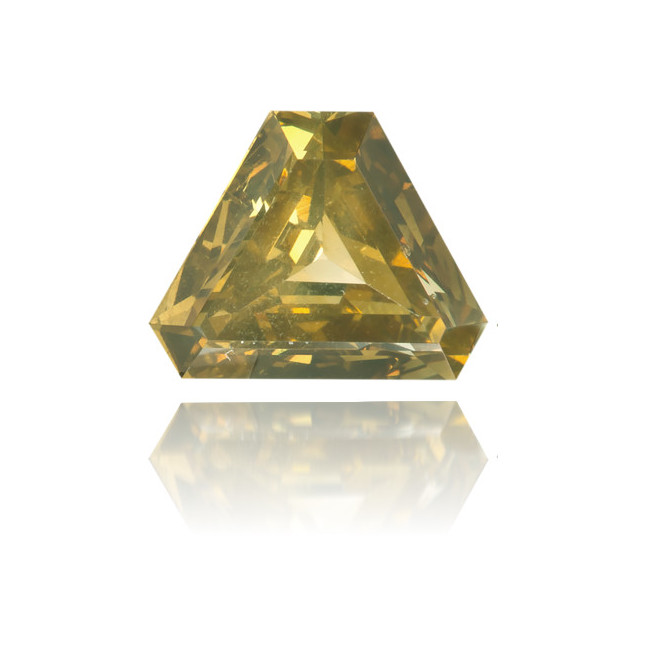 Natural Green Diamond Triangle 0.49 ct Polished