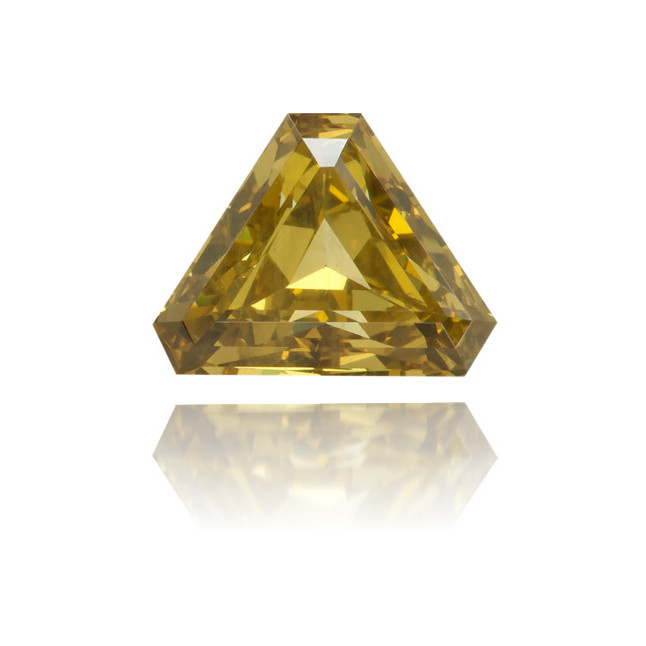Natural Green Diamond Triangle 0.63 ct Polished