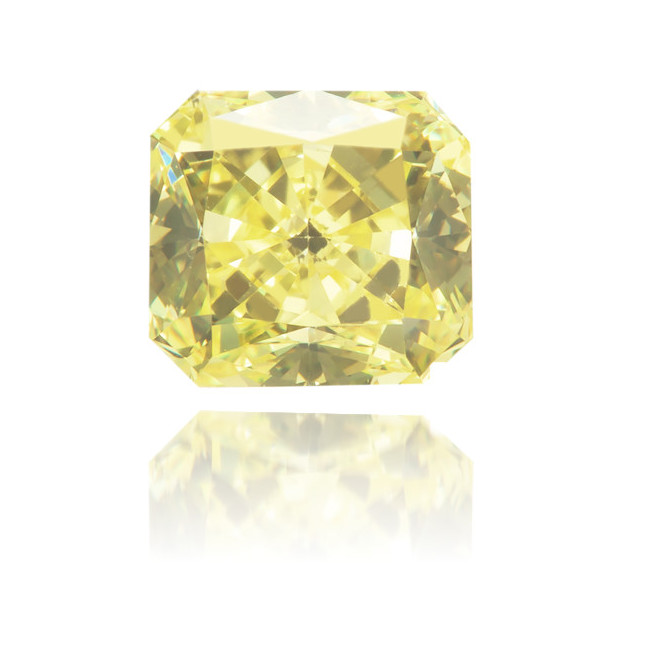 Natural Yellow Diamond Rectangle 0.70 ct Polished