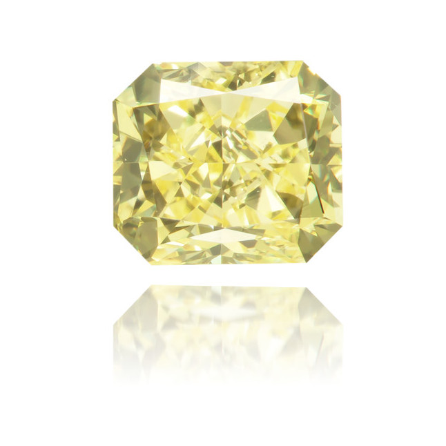 Natural Yellow Diamond Rectangle 0.85 ct Polished