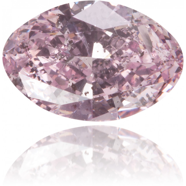 Natural Purple Diamond Oval 0.68 ct Polished