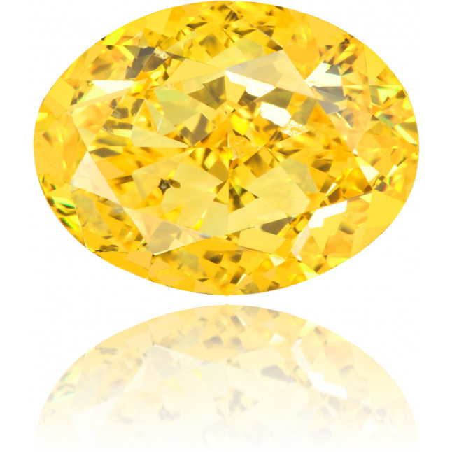 Natural Yellow Diamond Oval 2.02 ct Polished