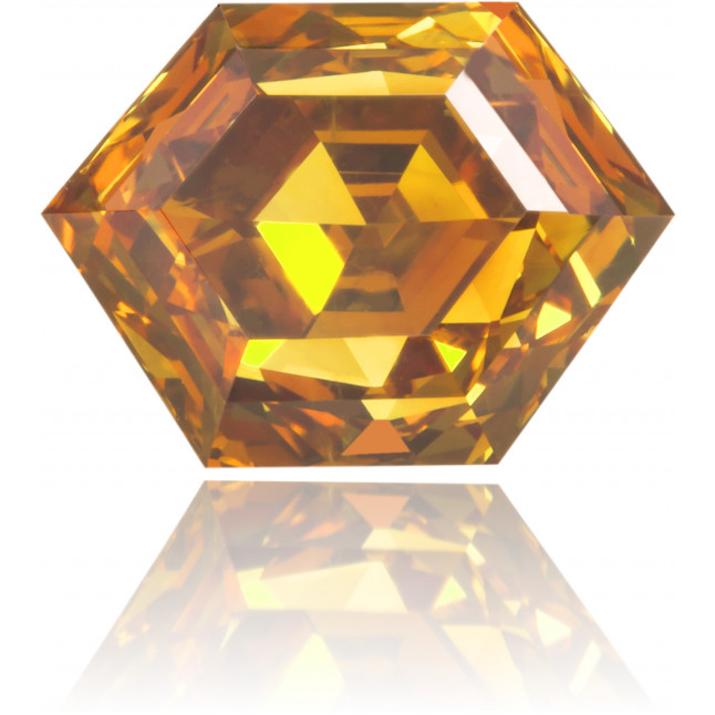 Natural Orange Diamond Hexagon 1.68 ct Polished