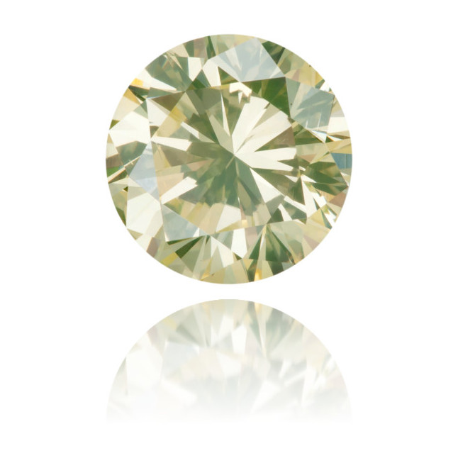 Natural Green Diamond Round 1.65 ct Polished