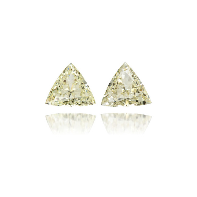 Natural Yellow Diamond Triangle 0.60 ct Set