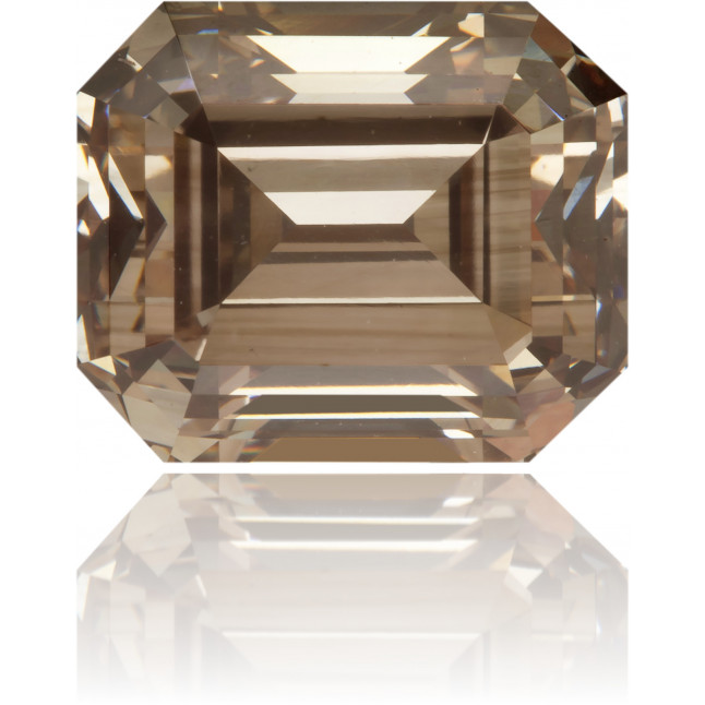 Natural Brown Diamond Rectangle 2.55 ct Polished
