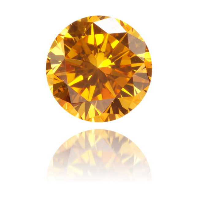 Natural Orange Diamond Round 0.51 ct Polished