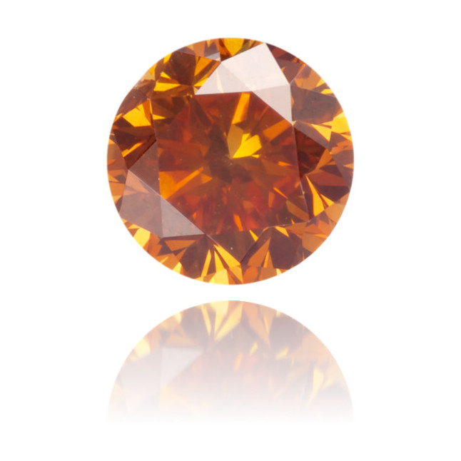 Natural Orange Diamond Round 0.49 ct Polished