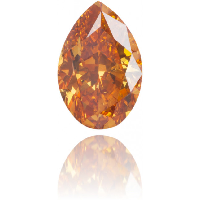 Natural Orange Diamond Pear Shape 0.43 ct Polished