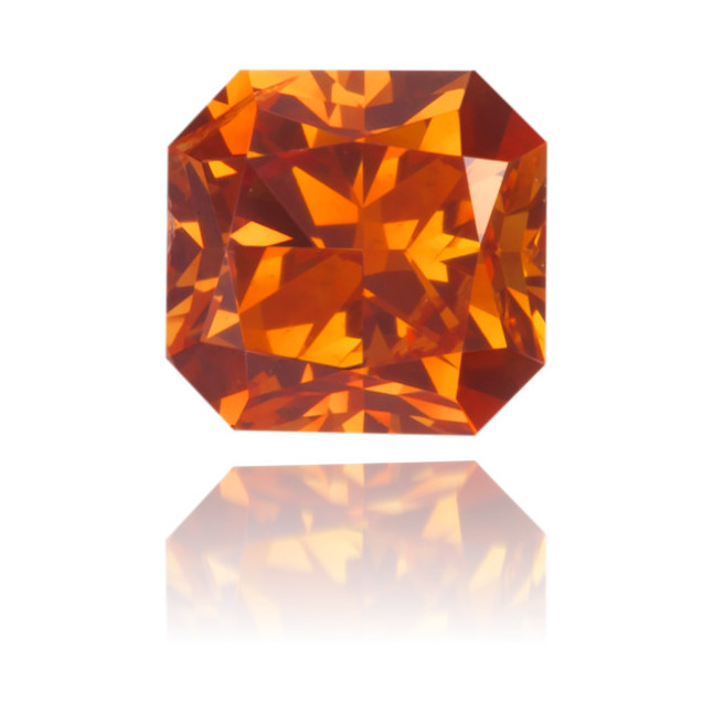 Natural Orange Diamond Rectangle 0.46 ct Polished