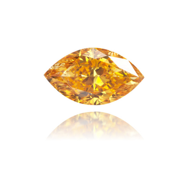 Natural Orange Diamond Marquise 0.39 ct Polished