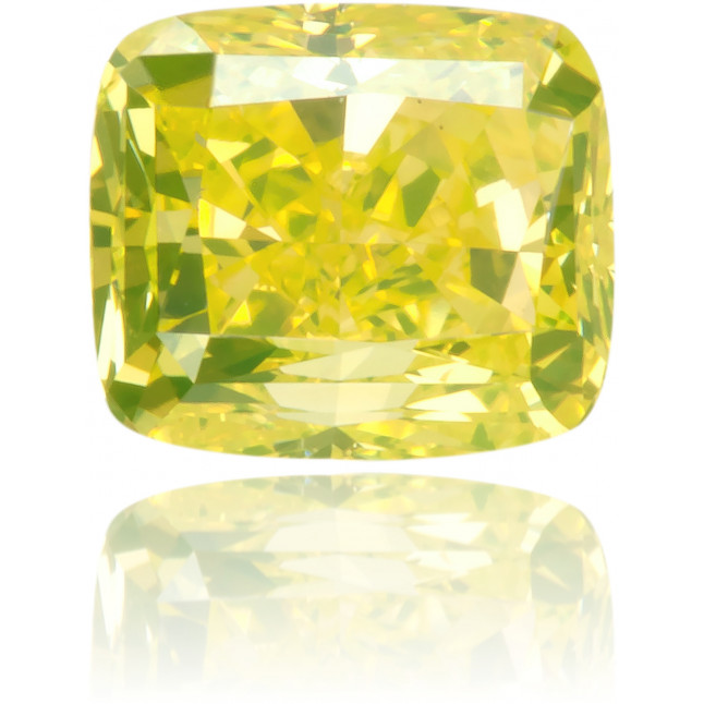 Natural Yellow Diamond Rectangle 0.52 ct Polished