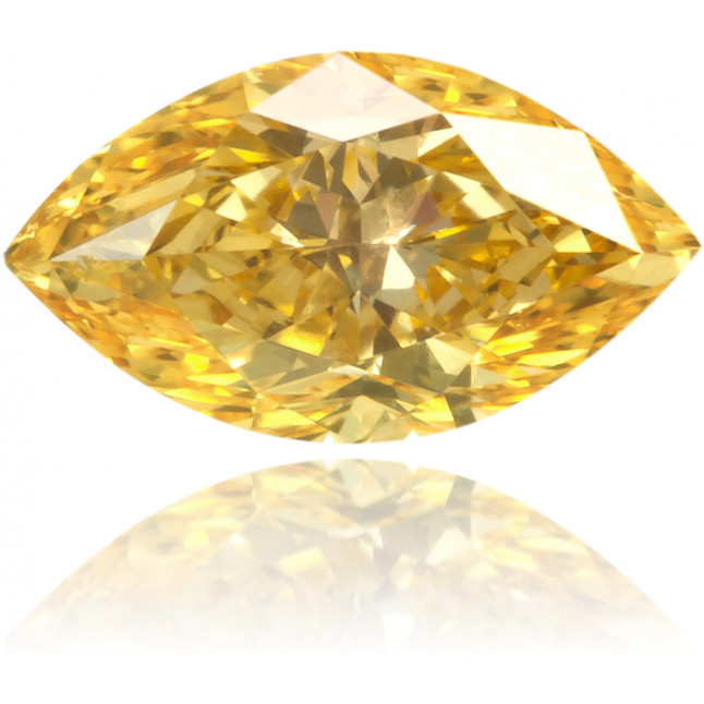 Natural Yellow Diamond Marquise 0.35 ct Polished