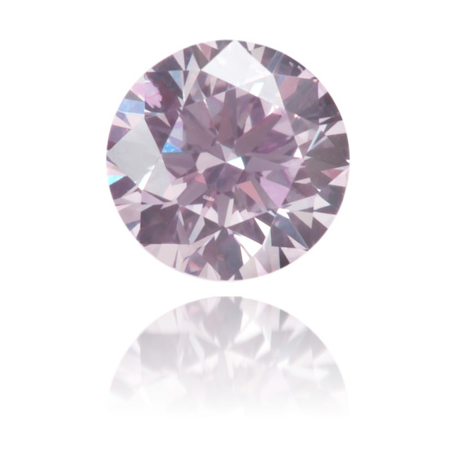 Natural Purple Diamond Round 0.19 ct Polished