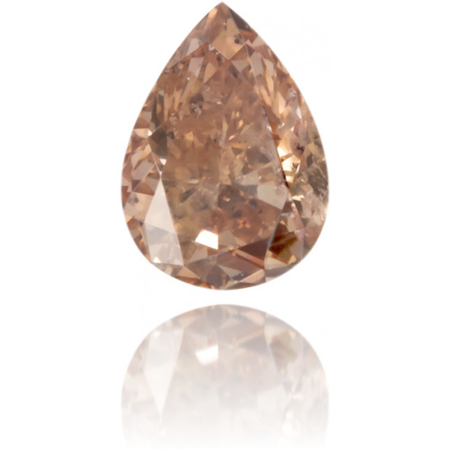 Natural Brown Diamond Pear Shape 0.16 ct Polished