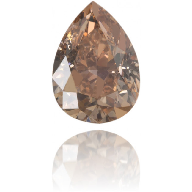 Natural Brown Diamond Pear Shape 0.19 ct Polished