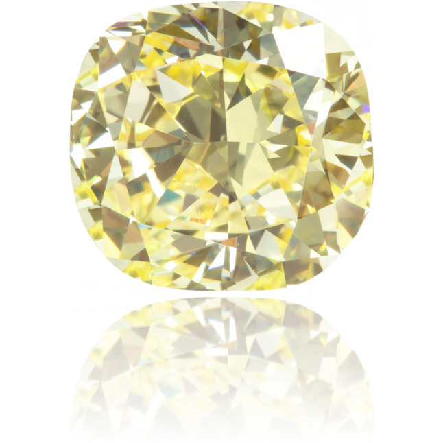 Natural Yellow Diamond Cushion 2.18 ct Polished