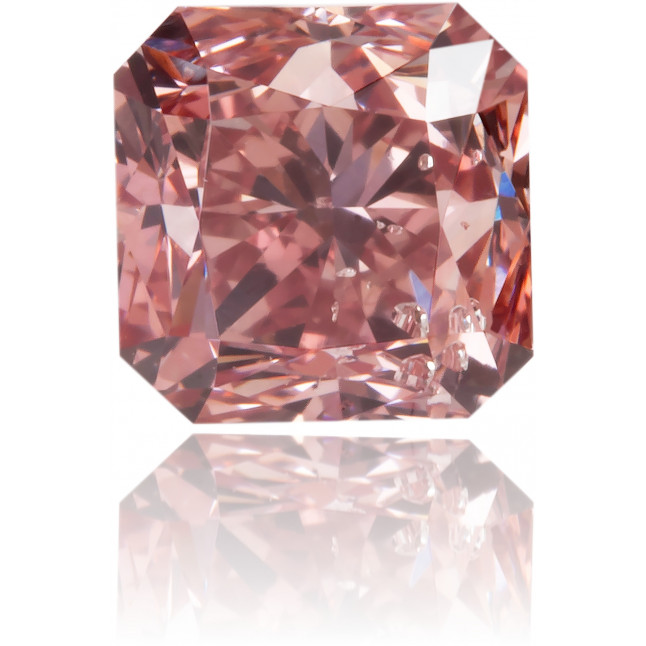 Natural Pink Diamond Square 0.83 ct Polished