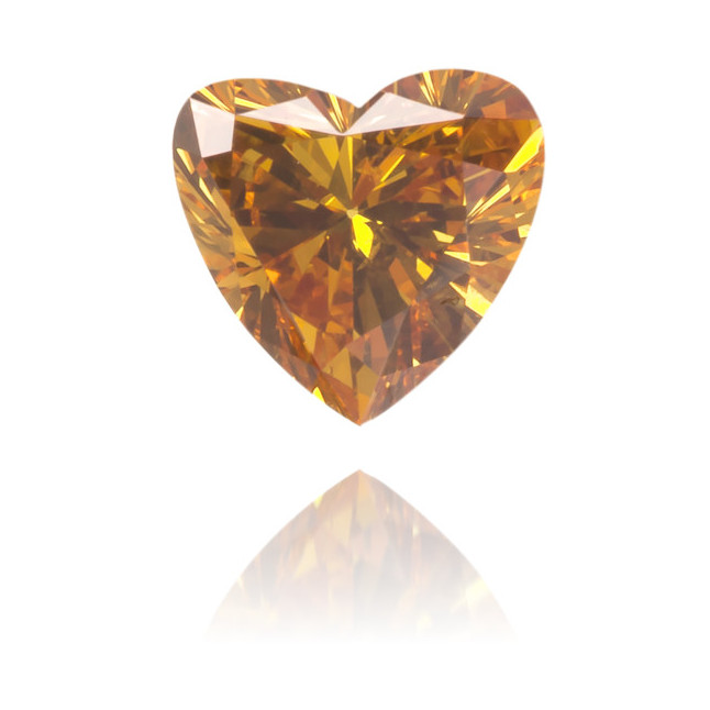 Natural Orange Diamond Heart Shape 0.25 ct Polished