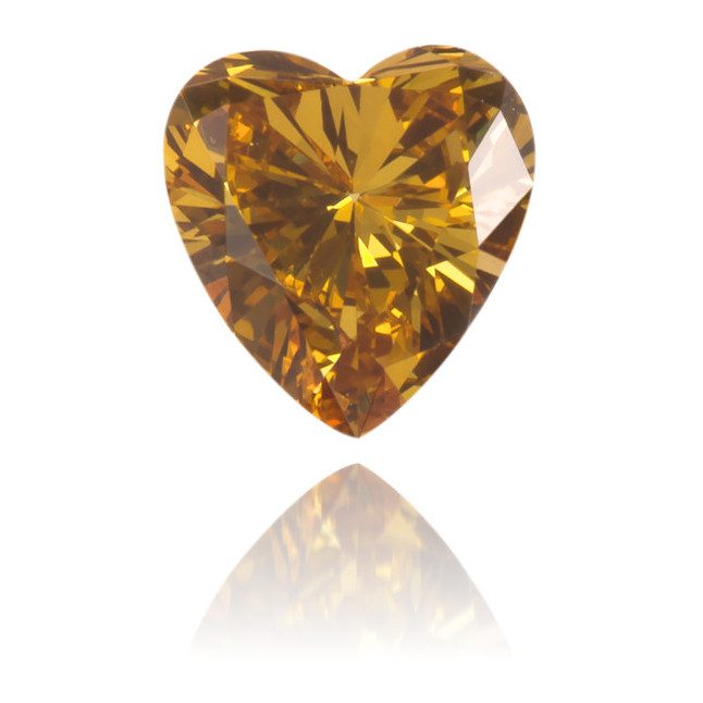 Natural Orange Diamond Heart Shape 0.23 ct Polished