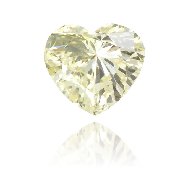 Natural Yellow Diamond Heart Shape 0.25 ct Polished