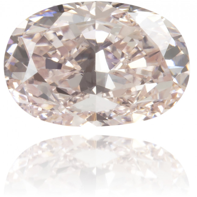 Natural Pink Diamond Oval 0.40 ct Polished