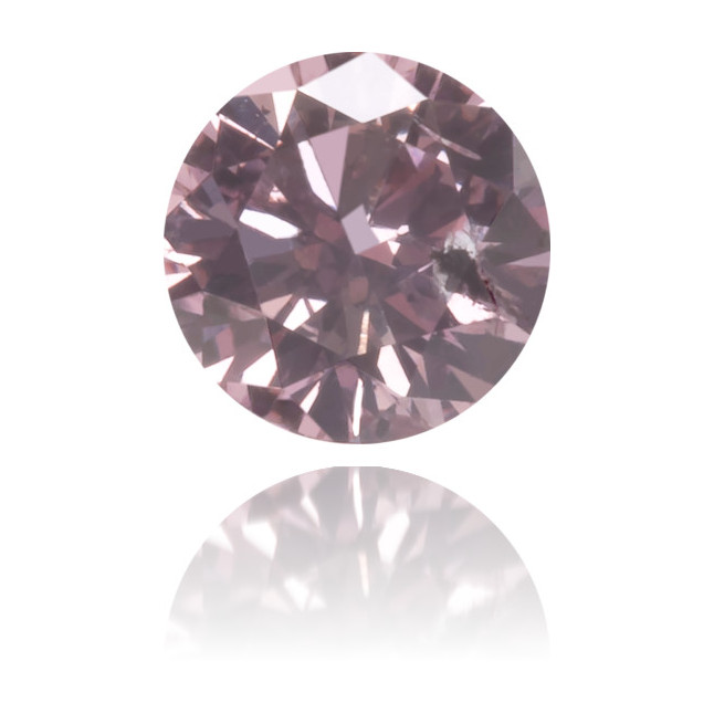 Natural Pink Diamond Round 0.19 ct Polished
