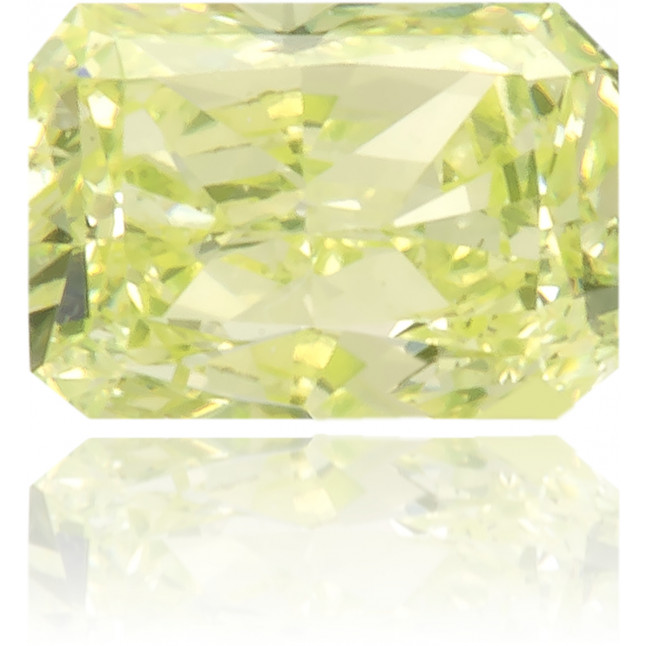 Natural Green Diamond Rectangle 0.16 ct Polished