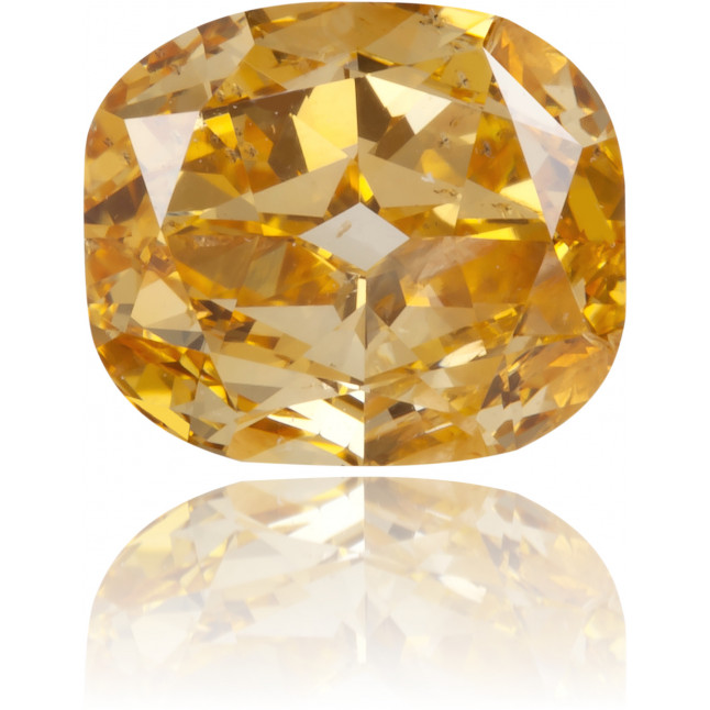 Natural Orange Diamond Cushion 0.57 ct Polished