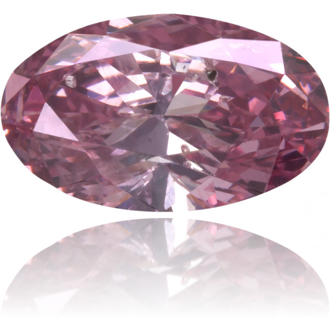 Natural Pink Diamond Oval 0.48 ct Polished