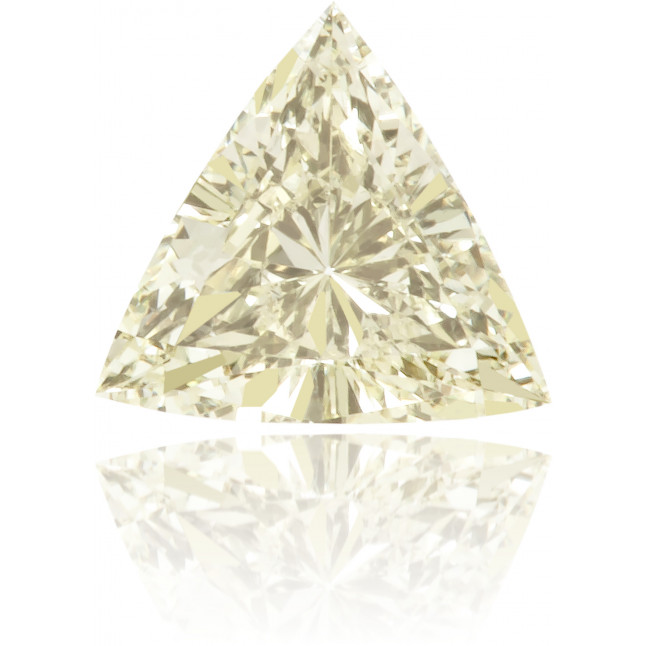 Natural Yellow Diamond Triangle 0.23 ct Polished