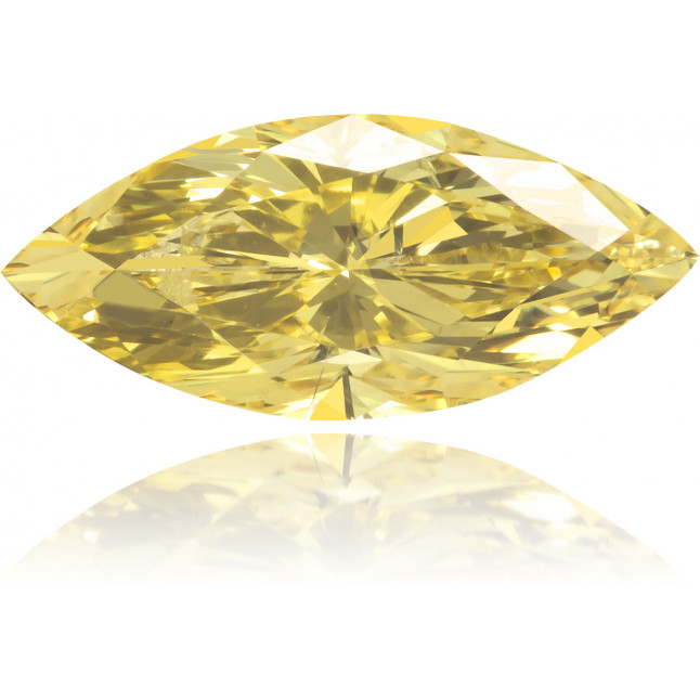 Natural Yellow Diamond Marquise 0.80 ct Polished