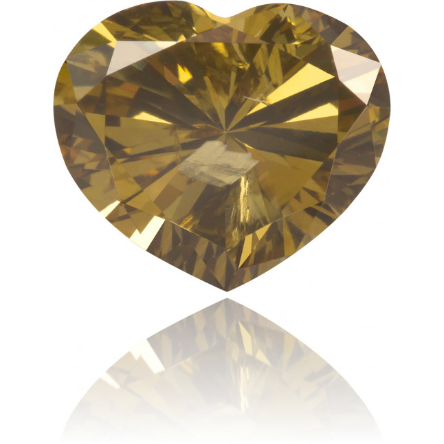 Natural Brown Diamond Heart Shape 2.82 ct Polished