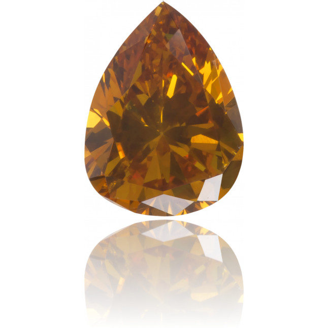Natural Orange Diamond Pear Shape 0.29 ct Polished