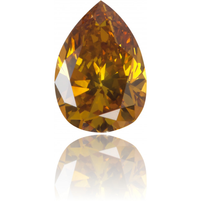 Natural Orange Diamond Pear Shape 0.31 ct Polished