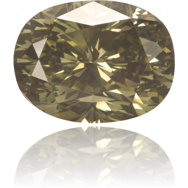 Natural Green Diamond Oval 2.46 ct Polished