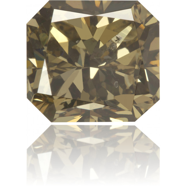 Natural Brown Diamond Rectangle 3.53 ct Polished