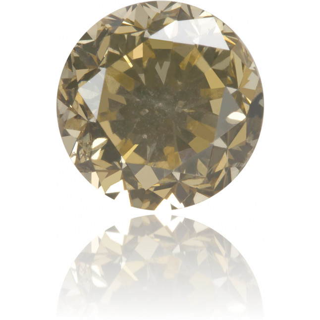 Natural Brown Diamond Round 0.93 ct Polished