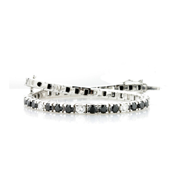 Black and White Eternity Bracelet