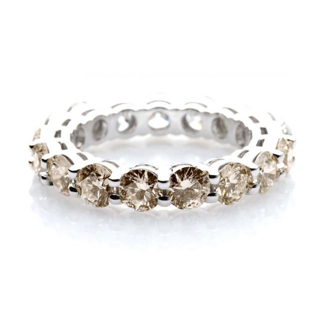 Champagne Diamond Wedding Band